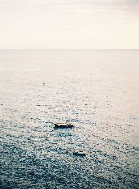 Wooden boat in Cinque Terre Italy  by Vicki Grafton Photography for Stocksy United