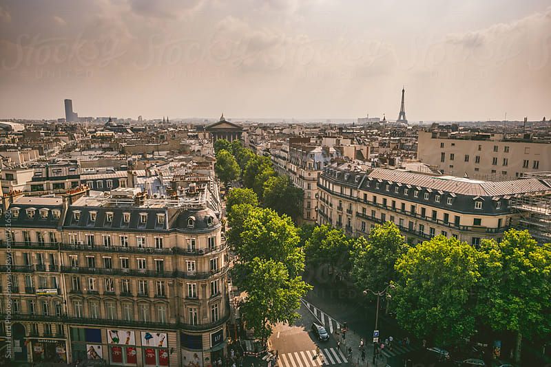 a view of the paris cityscape by Sam Hurd Photography for Stocksy United