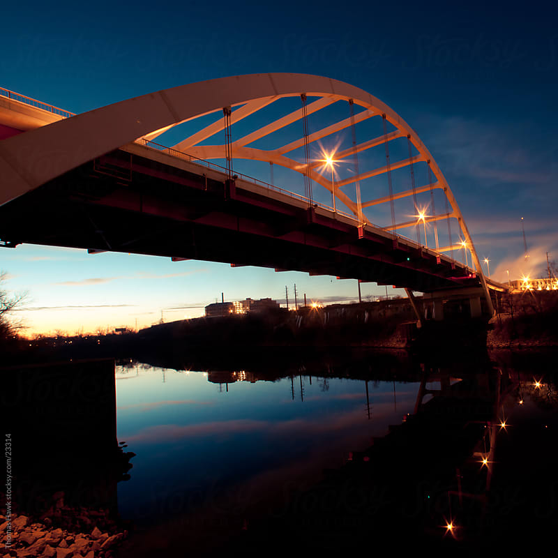 Gateway Bridge Over the Cumberland River, Nashville, TN by Thomas Hawk for Stocksy United