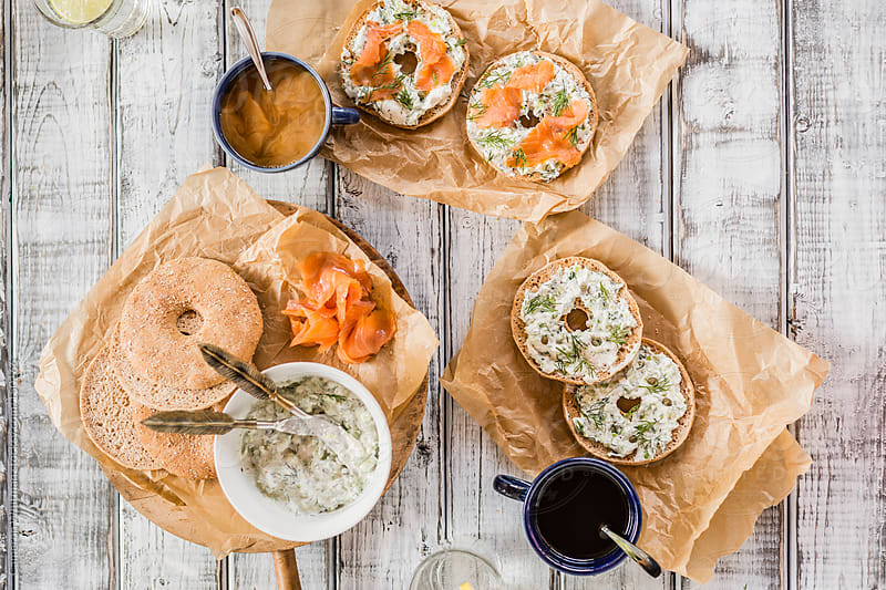 Lox Bagels and Coffee by Cameron Whitman for Stocksy United