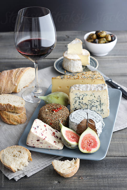 Cheese and Wine by Ina Peters for Stocksy United