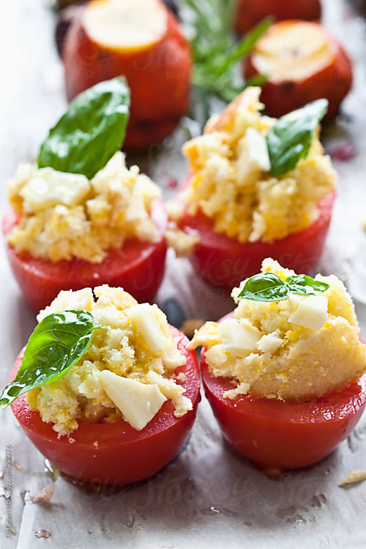 Stuffed Tomatoes by Jill Chen for Stocksy United