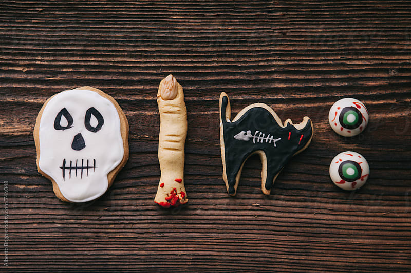 Halloween Butter cookie assortment by Alberto Bogo for Stocksy United