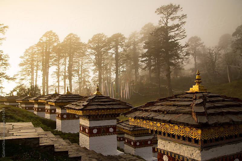 Sunrise at Dochula Pass. Bhutan by Gabriel Diaz for Stocksy United
