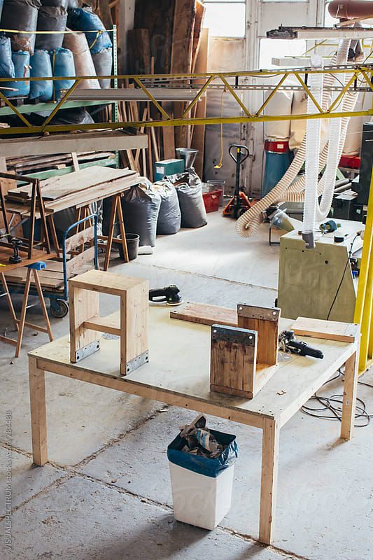 Carpenter's Workshop Overhead by Julien L. Balmer for Stocksy United