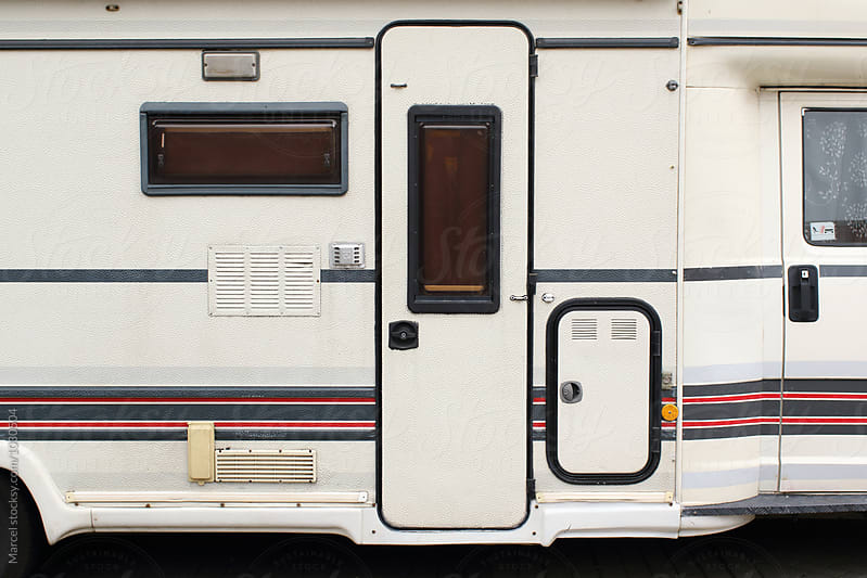 Camper door by Marcel for Stocksy United