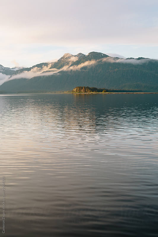 evening SE Alaskan landscape by Cameron Zegers for Stocksy United