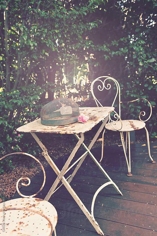outdoor garden setting by Gillian Vann for Stocksy United