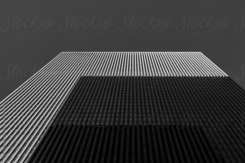 Minimalistic Upward View of a Skyscraper in Black and White by Tom Uhlenberg for Stocksy United