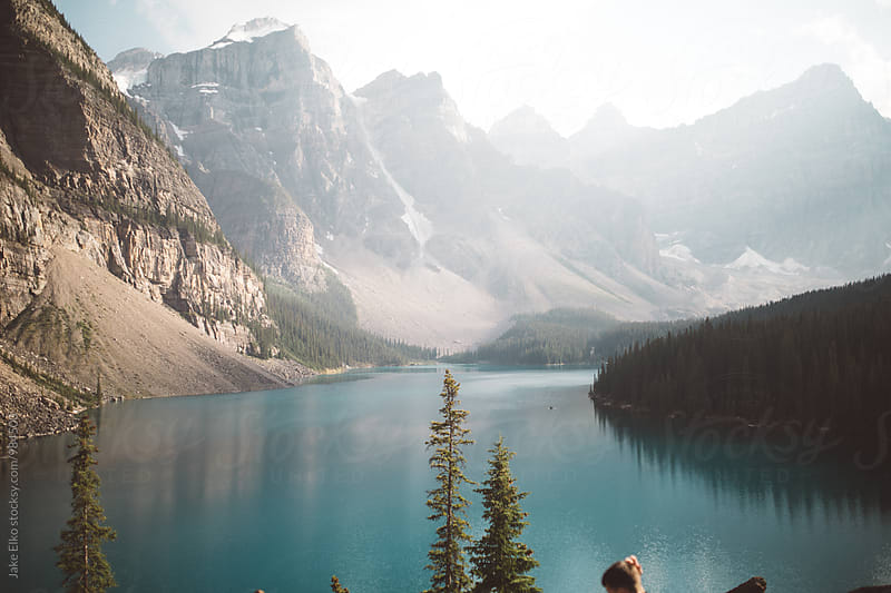 Moraine Lake With Blue Water by Jake Elko for Stocksy United