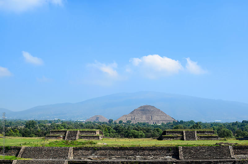 Impressive ruins of Teotihuacan by Alice Nerr for Stocksy United