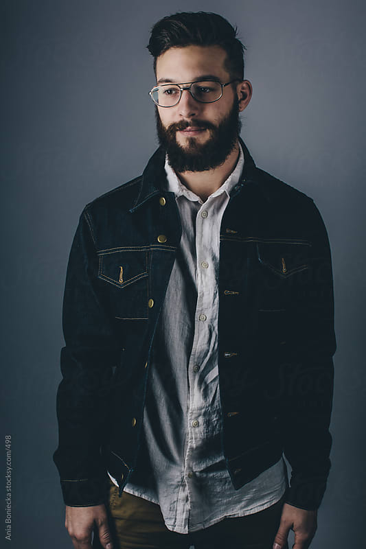 Portrait of a bearded man by Ania Boniecka for Stocksy United
