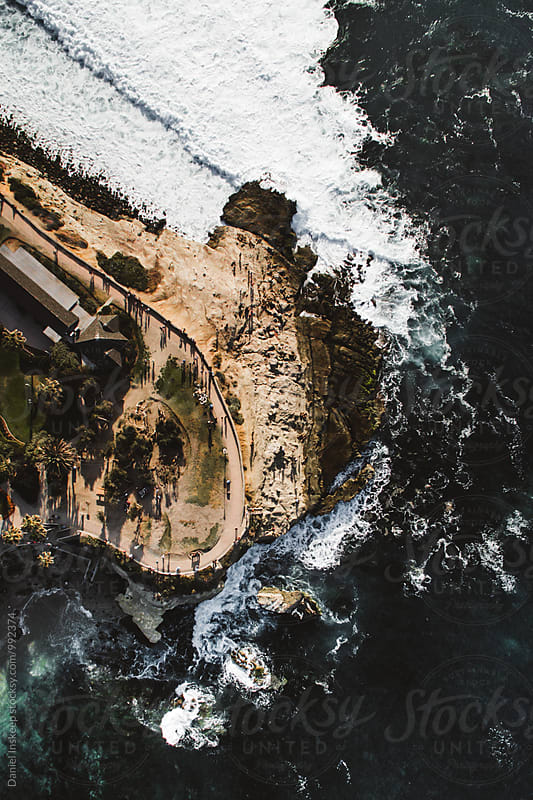 Aerial View of La Jolla Cove, San Diego by Daniel Inskeep for Stocksy United