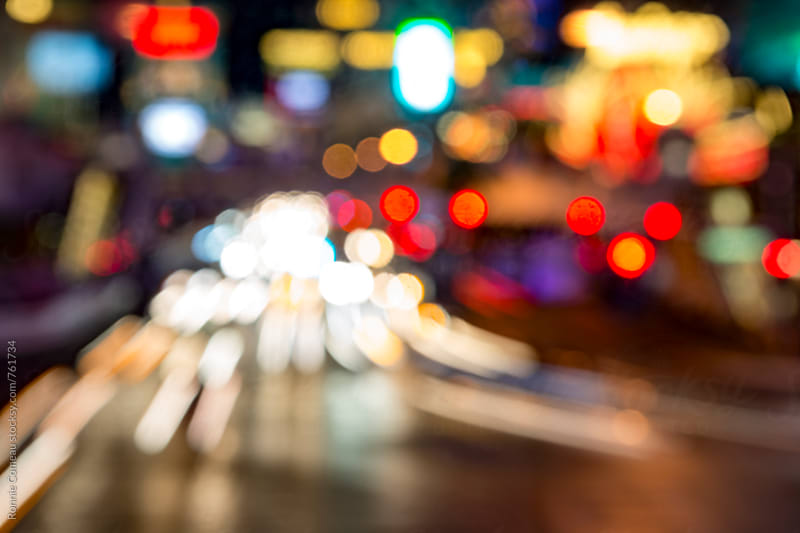 Busy City Traffic Blurred by Ronnie Comeau for Stocksy United
