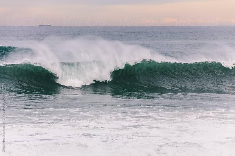Wave on the sea by Alejandro Moreno de Carlos for Stocksy United