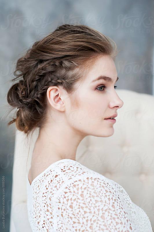 Portrait of young woman by Lyuba Burakova for Stocksy United