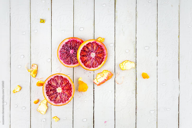 Fresh Organic Blood Orange and Peel by suzanne clements for Stocksy United