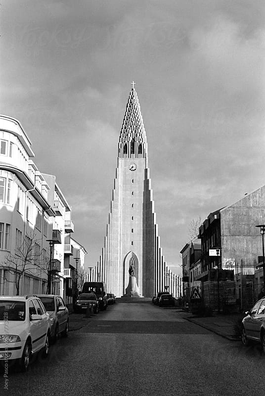 Hallgrímskirkja Church, Iceland by Joey Pasco for Stocksy United