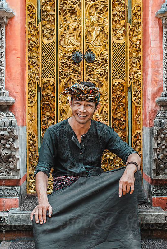 Balinese Young Man in Traditional Clothing by Alexander Grabchilev for Stocksy United