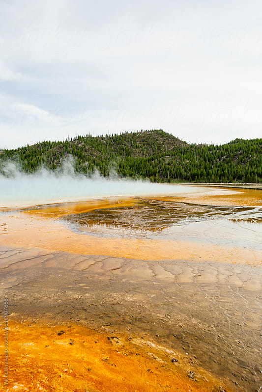Midway Geyser Basin in Yellowstone National Park by michela ravasio for Stocksy United