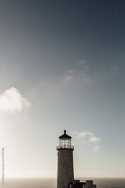 Lighthouse on Washington Pacific Coast by Evan Dalen for Stocksy United