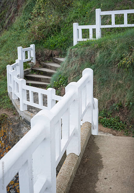 Promenade and white railing  by GIC for Stocksy United