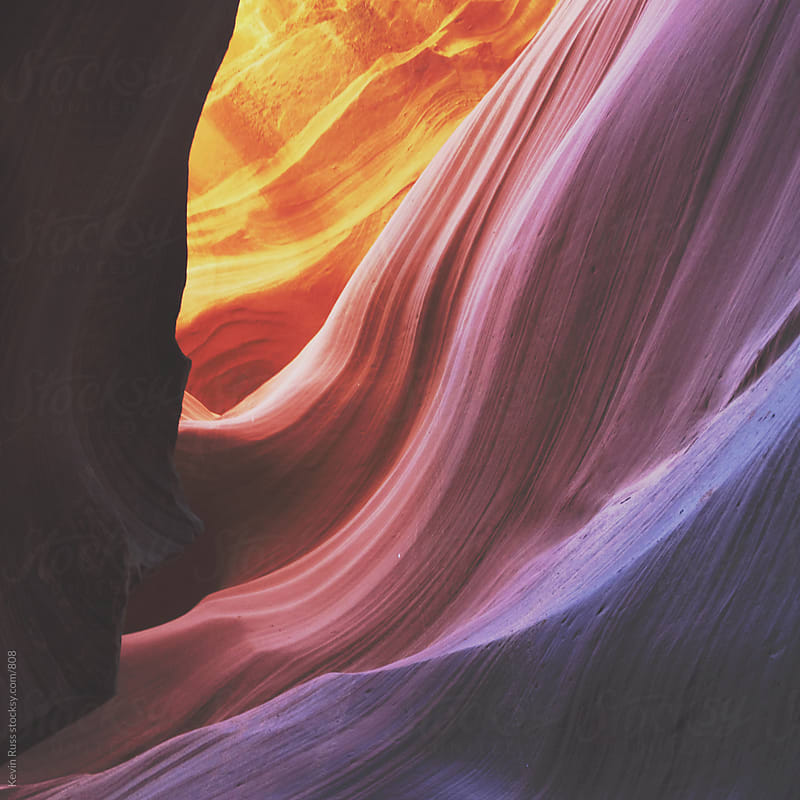 Antelope Canyon Sandstone Colors by Kevin Russ for Stocksy United