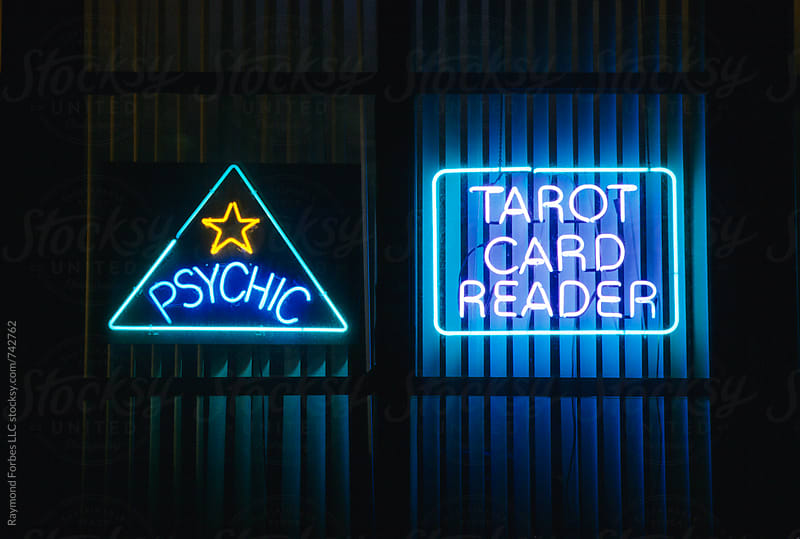 Psychic Downtown Office Sign by Raymond Forbes LLC for Stocksy United
