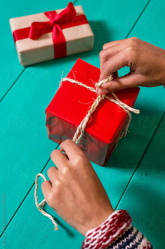 Christmas gift packing  by Bisual Studio for Stocksy United