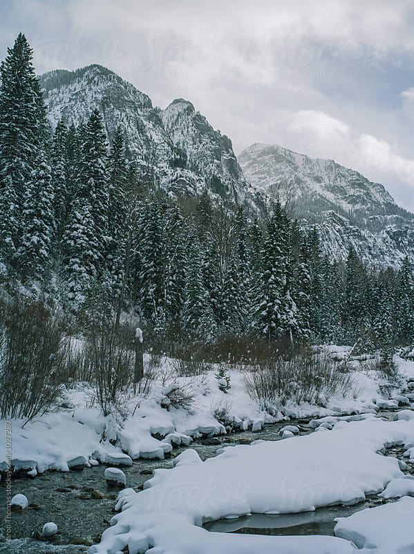 River beneath the Mountains by Aaron Thomas for Stocksy United