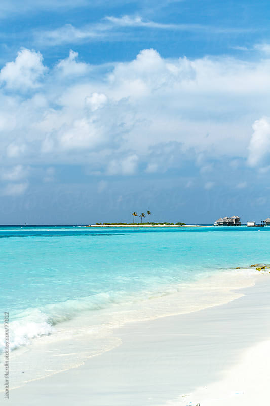 paradisiac beach on the maledives by Leander Nardin for Stocksy United