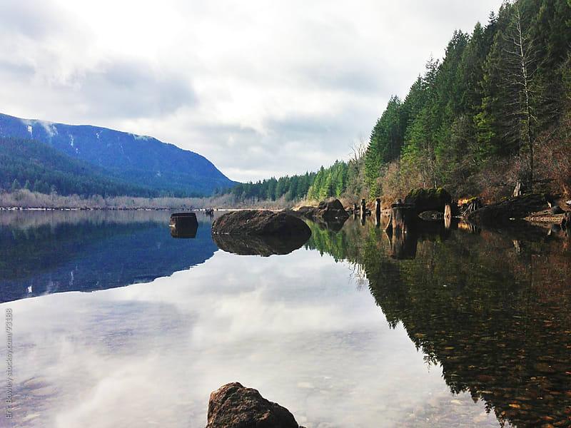 Natural Reflection at Rattlesnake Lake by Eric Bowley for Stocksy United