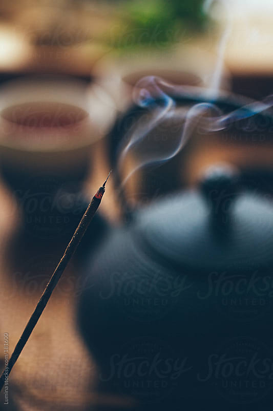 Incense Stick and Tea by Lumina for Stocksy United