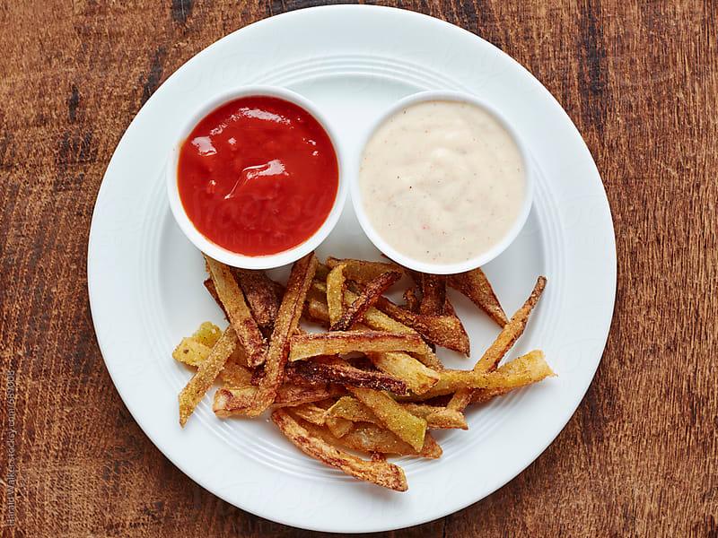 Kohlrabi fries by Harald Walker for Stocksy United