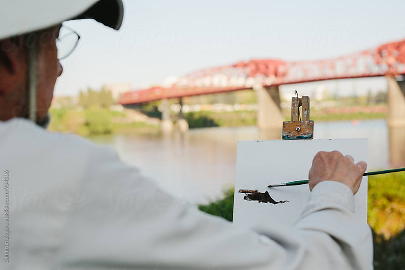 plein air painter by Cameron Zegers for Stocksy United