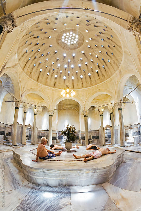 Turkish Bath interior, Istanbul, Turkey by Gavin Hellier for Stocksy United
