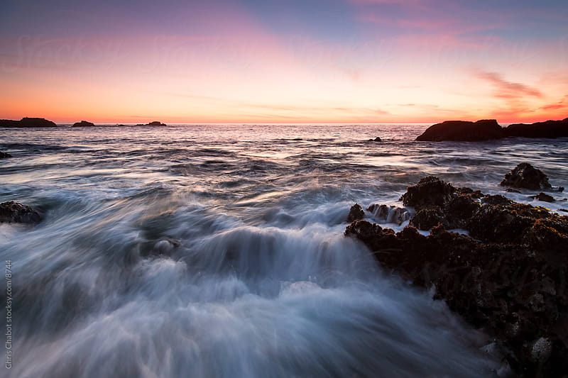 Sunset at Pescadero beach by Chris Chabot for Stocksy United