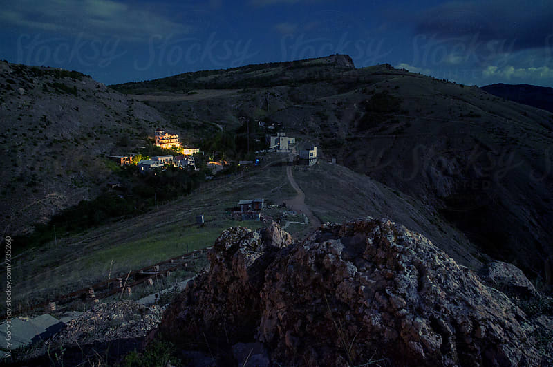 Night landscape in the Crimea by Yury Goryanoy for Stocksy United