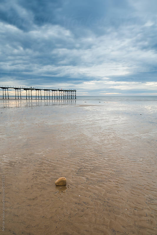 Saltburn by the Sea Pier and Beach by Marilar Irastorza for Stocksy United