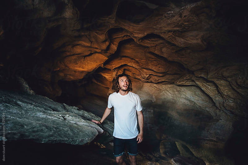 Cave man by dom stuart for Stocksy United