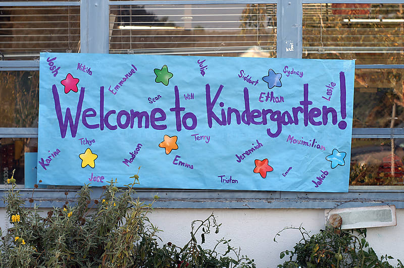 Welcome to Kindergarten sign by Per Swantesson for Stocksy United