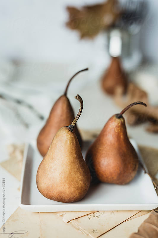Pears on the table by Tatjana Ristanic for Stocksy United