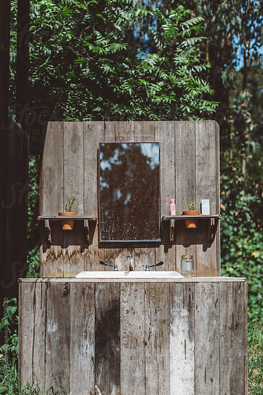 Rustic Outdoor Sink by Melanie Riccardi for Stocksy United