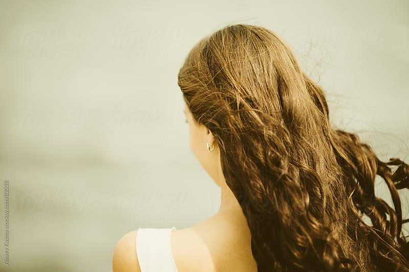 her hair by Alexey Kuzma for Stocksy United