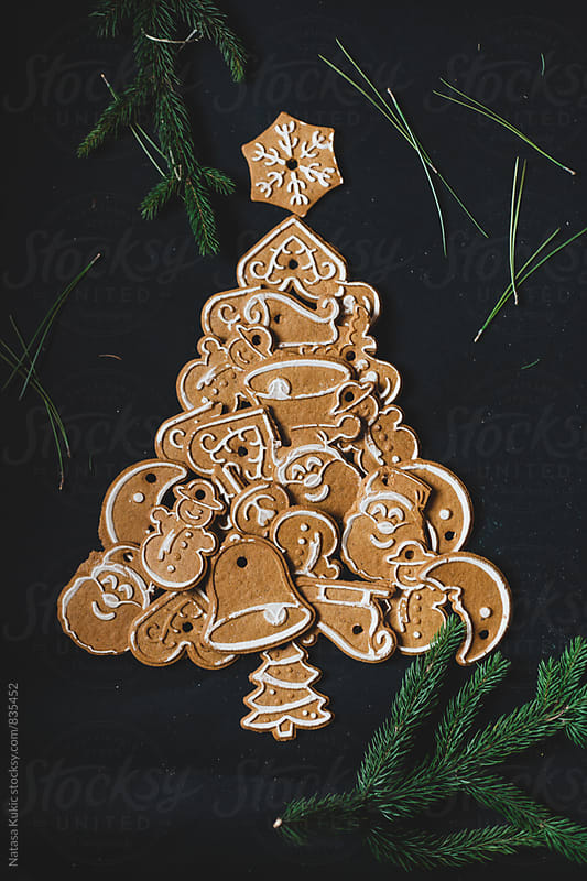 Cookies christmas tree by Natasa Kukic for Stocksy United