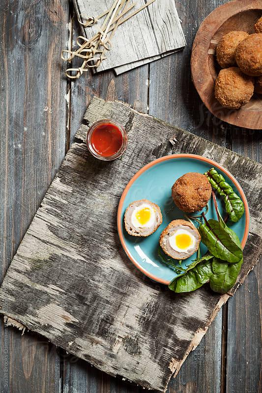 Scotch eggs by Susan Brooks-Dammann for Stocksy United