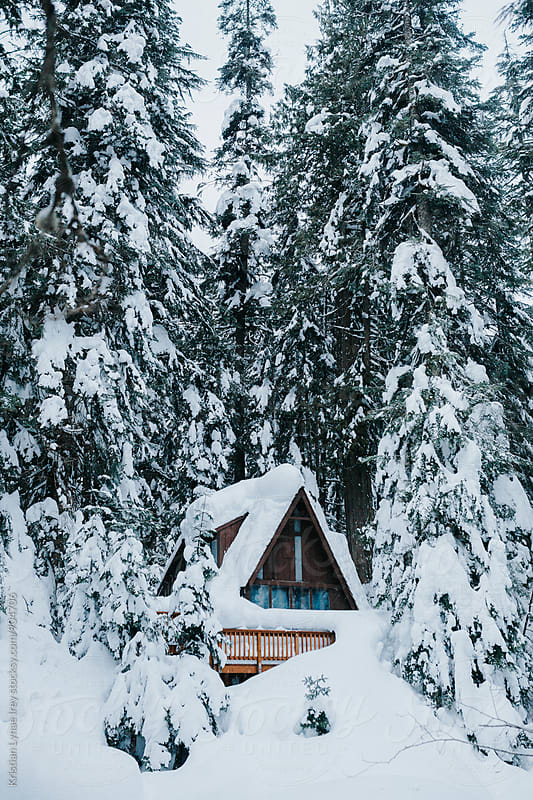 Snowy Cabin by Kristian Lynae Irey for Stocksy United
