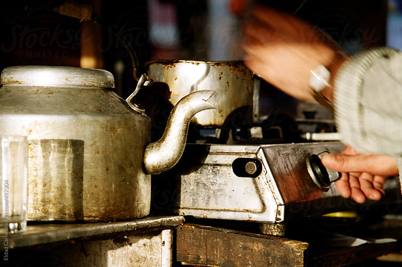 Making Indian Chai by Eldad Carin for Stocksy United