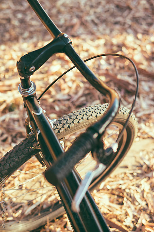 Close up of handlebars of a bike by ACALU Studio for Stocksy United