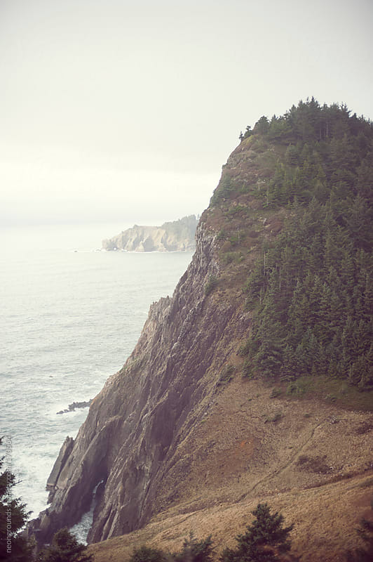 Oregon oceanside cliffs by neongrounds for Stocksy United